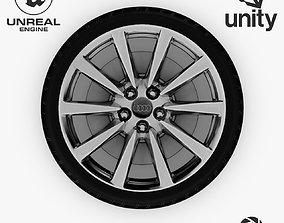 3D model Wheel Steel-Chrome Alloy Rim Audi 19 inch 3