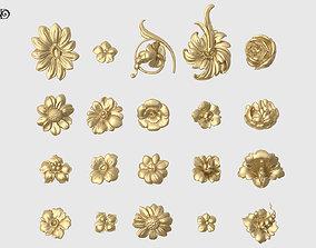 3D print model Decorative Flowers Set