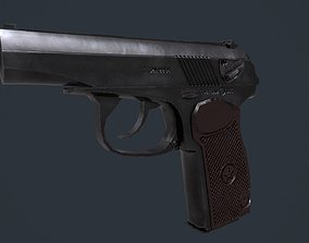 3D PM Makarov Pistol low-poly low textures VR / AR ready