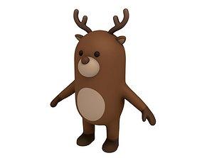 Cartoon Reindeer 3D model