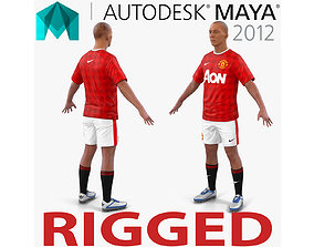 Soccer Player Manchester United Rigged 2 for Maya 3D model