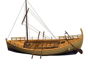 3D model Ancient Greek trading vessel merchant ship