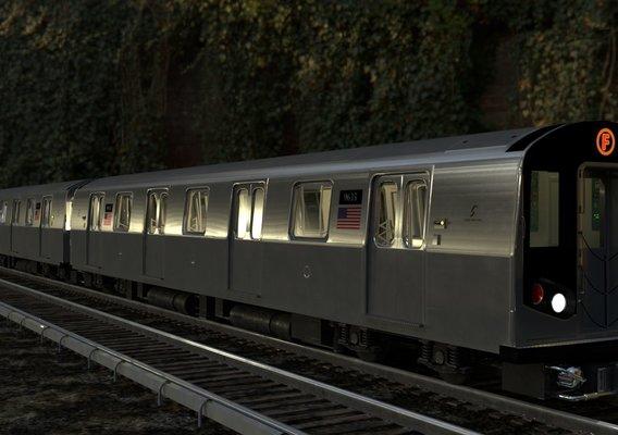 NYC subway and R160 metro car