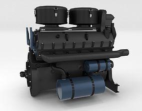 tiger Maybach HL230 Engine Panzer Tiger Unit 3D model
