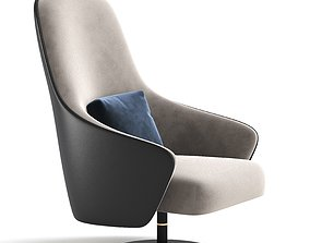 Reflex LUDWIG Swivel armchair with armrests 3D model