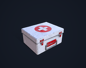 healthcare 3D model game-ready First Aid Kit
