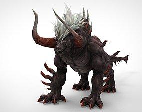 3D model Animals low polygon dinosaur monster strong