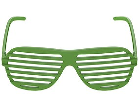 Shutter Glasses Green 3D model