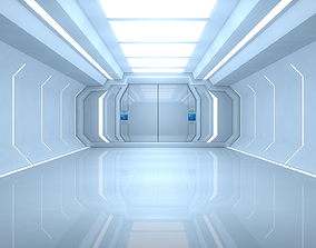 3D asset low-poly Sci Fi Room future