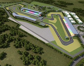 F1 Race Track 3D model