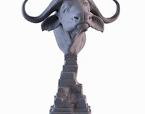 3D print model Head African Buffalo