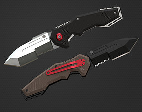 pocket knife 3D asset low-poly