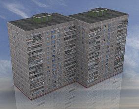 Russian Apartment 14 Storey Building 3D model