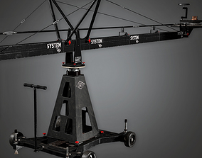 Production Camera Crane 01a HLW - PBR Game Ready 3D asset