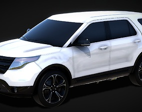 low-poly Ford Explorer SUV 3D Model