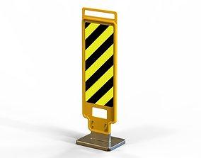 3D printable model Road Wet Sign Reflexive