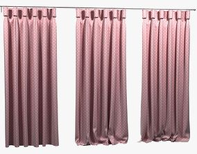 3D model Goblet Heading pink kids Curtain