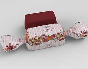 3D model rigged Candy bar