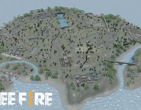 BERMUDA - Map - Free Fire 3D Model - Blender - Free 2
