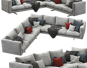 Dee Dee Sectional Sofa by Berto 3D
