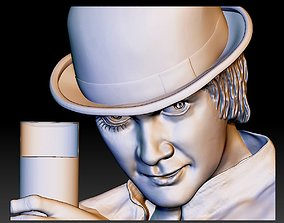 Portrait STL file 3d model bas-relief Clockwork orange