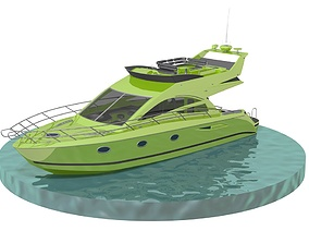 Yacht grig 3D