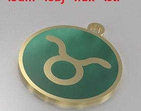 Model 4 Taurus Necklace Horoscope Necklace Zodiac Sign