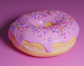 3D asset Delicious donut