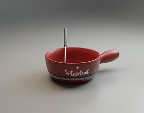 Fondue pot 3D asset
