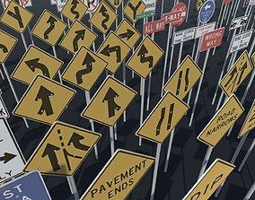 Road sign - Big pack 3D asset