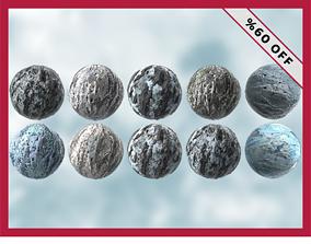 3D asset 23 Snow Ice High Quality Seamless PBR Texture 1