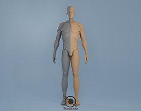 Blender IK and FK Rigged Doll - Male 3D asset