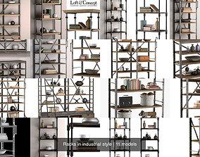 Racks in industrial style 3D model
