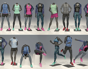 Woman mannequin Nike FULL PACK 3D