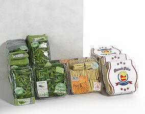 Packed Vegetables 2 3D model packed