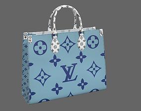 3D model Louis Vuitton Onthego Giant Monogram Blue White