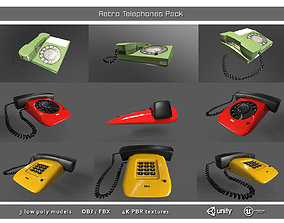 Retro Telephones Pack 3D model