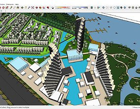 3D model Sketchup Residential complex B5