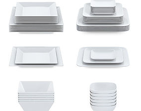 Set of square plates 3D
