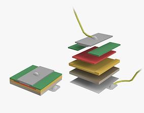 LED Chip Assembly 3D asset