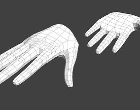 3D asset Anime Girl Hand Base V1