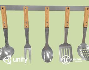 3D asset realtime Kitchen Utensils
