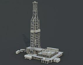 3D model Oil tower model
