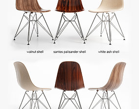 3D Chairs Eames DSR wood