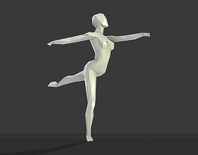 3D print model Dancing figure 2 low poly