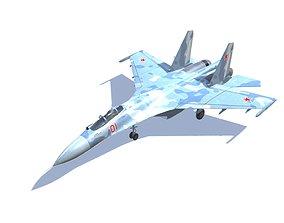 SU-27 Flanker Jet Fighter Aircraft 3D asset