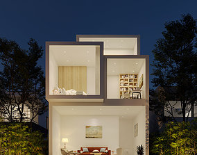 exterior 3D Modern House Exterior