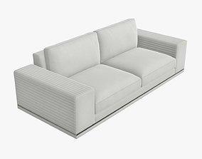 Two seat modern sofa 3D