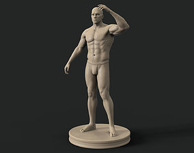 Human male body vol 1 for 3d printing muscles