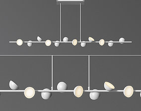 3D model Mantra Adn LED 36w white Linear Pendant Light